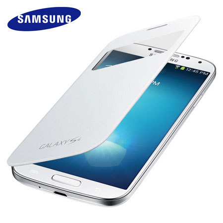 Official Samsung S-View Flip Cover & Qi Charging for Galaxy S4 - White