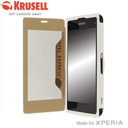 Xperia Z1 White Review Krusell Malmo FlipCove...