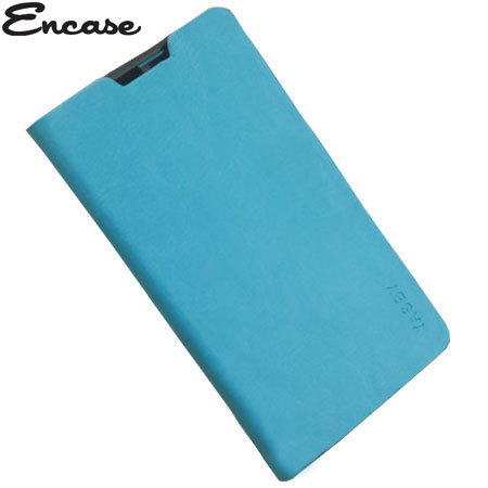 Encase Stand and Type Folio Case for Wiko Cink Five - Blue