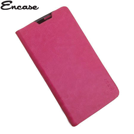 Encase Stand and Type Folio Case for Wiko Cink Five - Pink