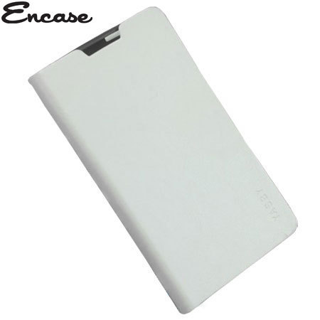 Encase Stand and Type Folio Case for Wiko Cink Five - White