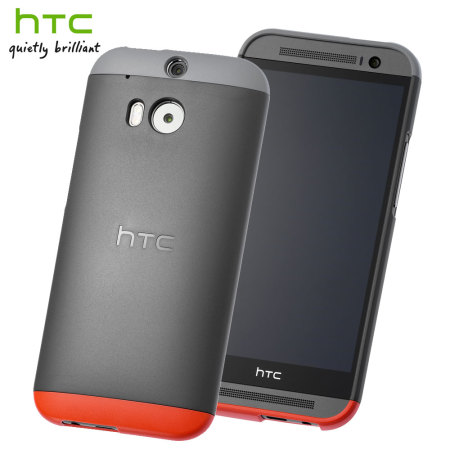 Official HTC One M8 / M8s Double Dip Hard Shell - Grey and Red