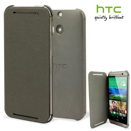 cheap for discount 79d0d d57b6 Official HTC One M8 / M8s Flip Case - Grey