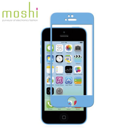 Moshi iVisor Glass Screen Protector for iPhone 5S / 5C / 5 - Blue