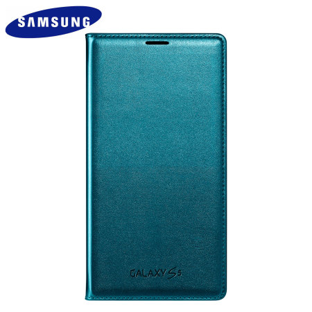 100% authentic ca3e9 1b0f2 Official Samsung Galaxy S5 Flip Wallet Cover - Blue Topaz