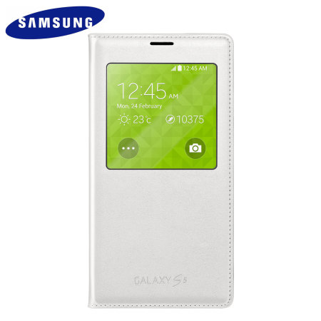 S View Premium Cover Officielle Samsung Galaxy S5 – Blanche