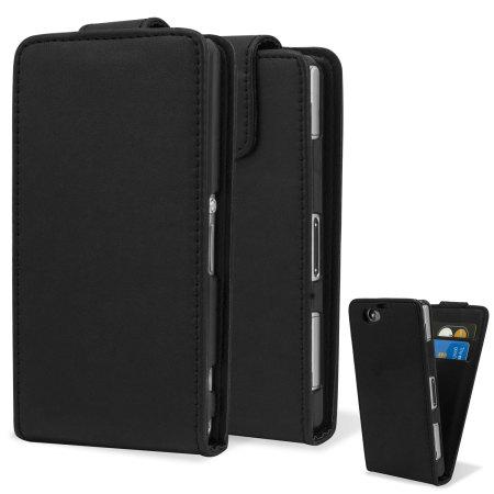 Qubits FlipCase Xperia Z1 Compact Tasche in Schwarz