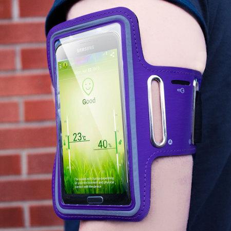 Universal Armband for Large-Sized Smartphones - Purple