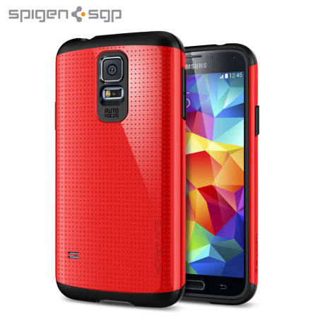 sale retailer 4225e 40fa9 Spigen SGP Slim Armor Case for Samsung Galaxy S5 - Red