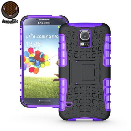 ArmourDillo Hybrid Protective Case for Samsung Galaxy S5 - Purple