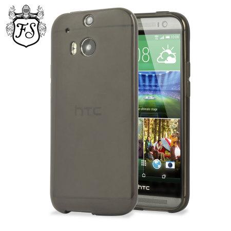 57adfd2f0a0 FlexiShield Skin for HTC One M8 - Smoke Black