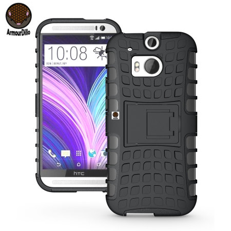 ArmourDillo Hybrid Protective Case for HTC One M8 - Black