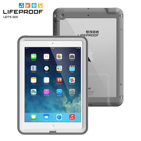 lifeproof fre ipad air case white grey