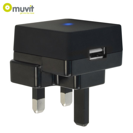 Muvit UK USB Mains Charger Adapter