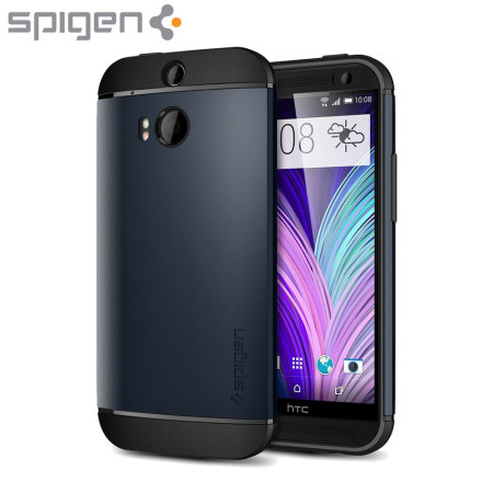 Spigen Slim Armor HTC One M8 Case - Metal Slate