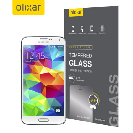 Olixar Samsung Galaxy S5 Tempered Glass Screen Protector