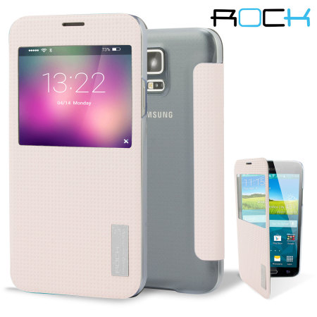 timeless design 3c598 967d6 ROCK Elegant Samsung Galaxy S5 Smart View Flip Case - Pink