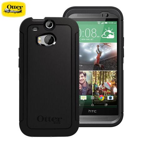 top fashion f3090 810cc OtterBox HTC One M8 Defender Series Case - Black