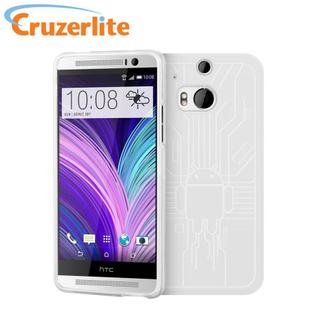 Cruzerlite Bugdroid Circuit HTC One M8 Case - White