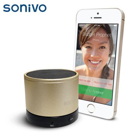 Sonivo SW100 Bluetooth Speaker Phone - Gold