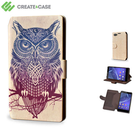 Create And Case Sony Xperia Z1 Compact Book Case - Warrior Owl