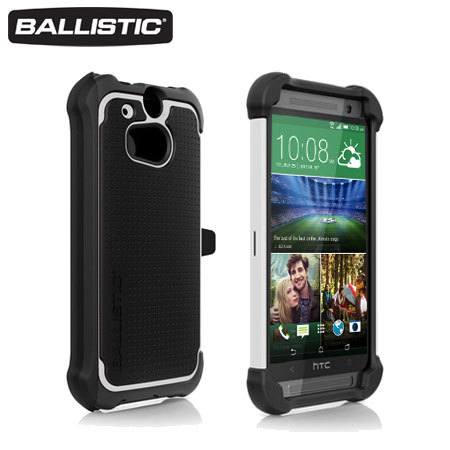 Ballistic HTC One M8 Tough Jacket Maxx Case - Black / White
