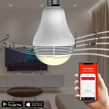 MiPow Playbulb Bluetooth Speaker Smart Bulb - White