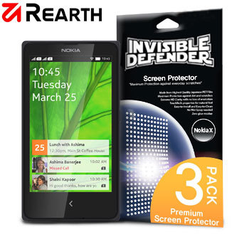 Rearth Invisible Defender 3 Pack Nokia X Screen Protector