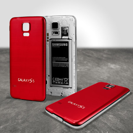 Replacement Aluminium Metal Samsung Galaxy S5 Back Cover - Red