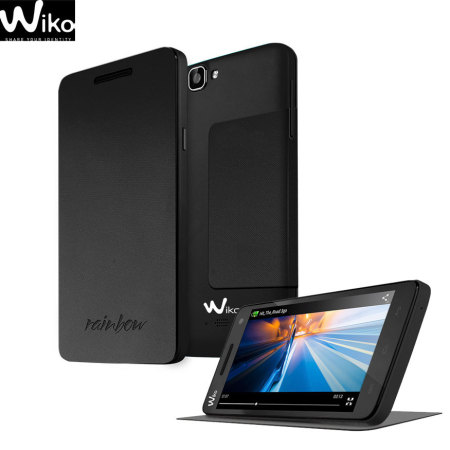 Official Wiko Rainbow Folio Case with Stand - Black