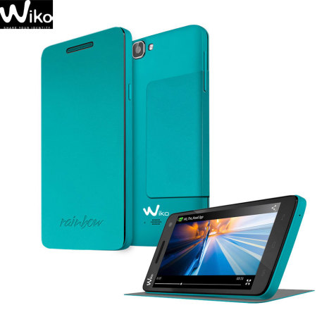 Official Wiko Rainbow Folio Case with Stand - Light Blue