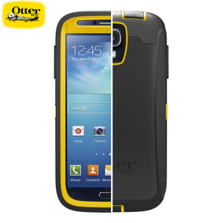 the latest dbda4 47612 OtterBox Defender Series for Samsung Galaxy S4 - Black / Hornet Yellow
