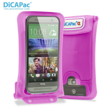"DiCAPac Universal Waterproof Case for Smartphones up to 5.7"" - Pink"