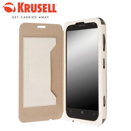 separation shoes b705e bb775 Krusell Malmo Nokia Lumia 625 Flip Cover - White