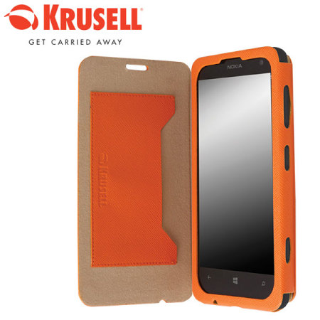 hot sale online 7a2ac 09618 Krusell Malmo Nokia Lumia 625 Flip Cover - Orange