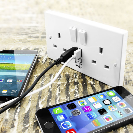 power socket with usb charging wall plate white reviews mobile fun ireland. Black Bedroom Furniture Sets. Home Design Ideas