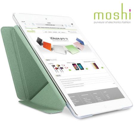 new concept e8116 d3cdd Moshi iPad Air VersaCover Stand & Type Case - Aloe Green