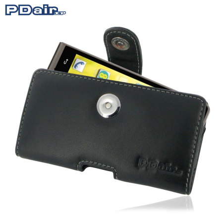 PDair EE Kestrel Horizontal Leather Pouch Case - Black