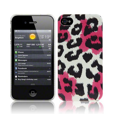 Coque iPhone 4S / 4 Call Candy – Leopard Rose