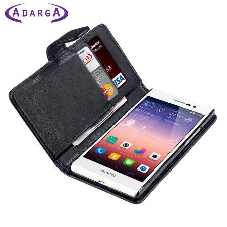 Adarga Huawei Ascend P7 Wallet Case - Black