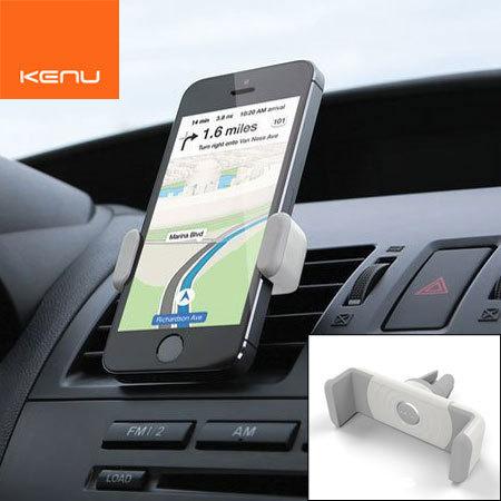 Kenu Airframe tragbare KFZ Halterung und Halter für Smartphones Weiß