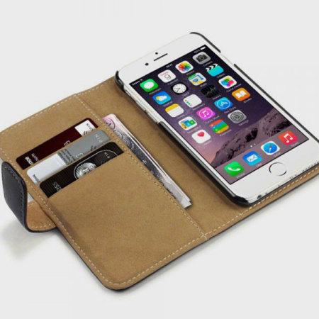 Olixar Leather-Style iPhone 6S / 6 Wallet Case - Black