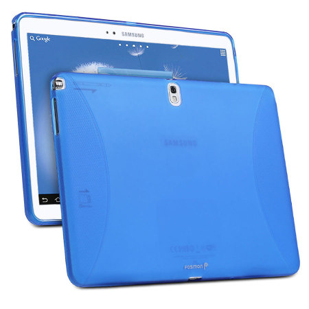 Frosted Matte TPU Samsung Galaxy Note 10.1 2014 Gel Case Cover - Blue