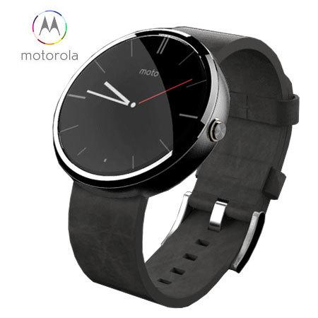 Motorola Moto 360 SmartWatch - Black Leather