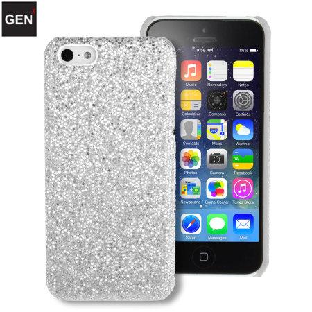 Funda iphone 5c genx con brillantina plata - Funda bateria iphone 5c ...