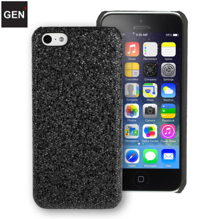GENx iPhone 5C Glitter Case - Black