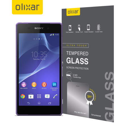Olixar Sony Xperia Z2 Tempered Glass Screen Protector