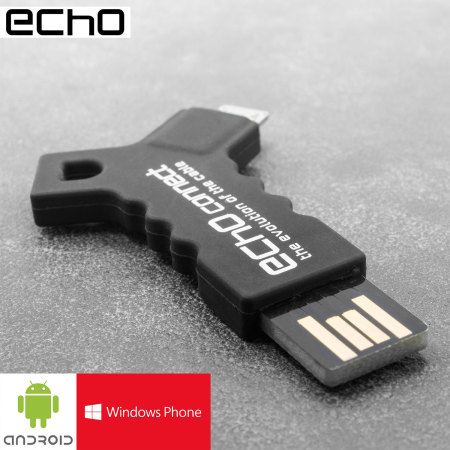 Echo Connect Portable Micro USB Charge & Sync Key Chain - Black