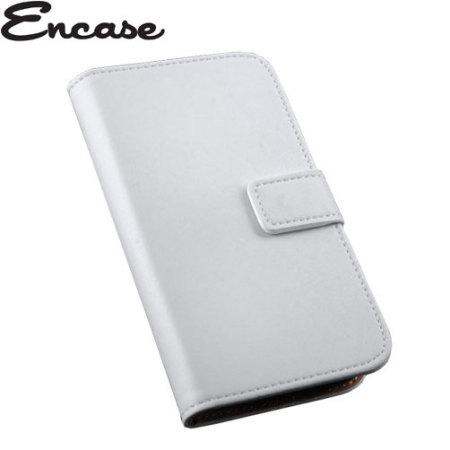 Encase Stand and Type Wiko Bloom Wallet Case - White