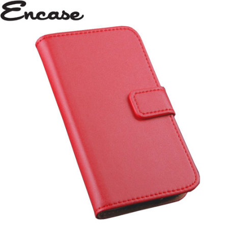 Encase Stand and Type Wiko Bloom Wallet Case - Red